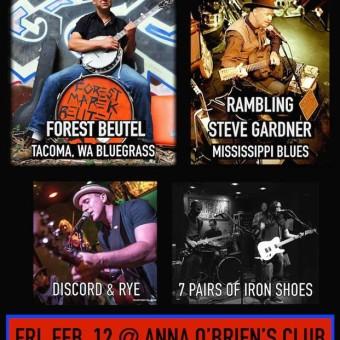 Mini Roots Fest February 12 (FRIDAY) Anna O'Briens's (Honolulu)