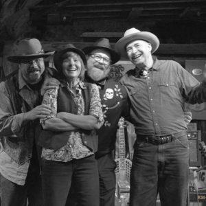 JERICHO ROAD SHOW on tour. (L-R) Wes Lee, Libby Rae Watson, Bill Steber, Rambling Steve Gardner