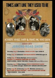 2018 schedule for JERICHO ROAD SHOW